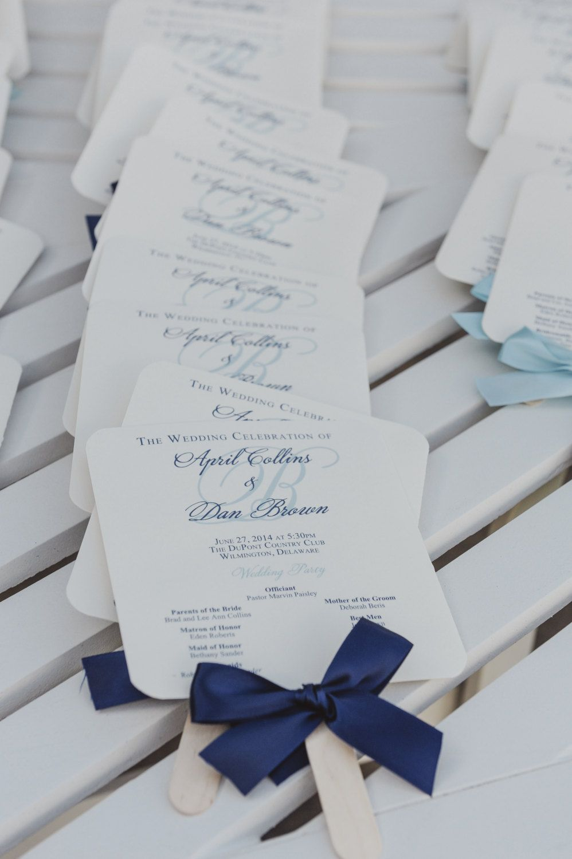 Printable navy program fans wedding program fans nautical