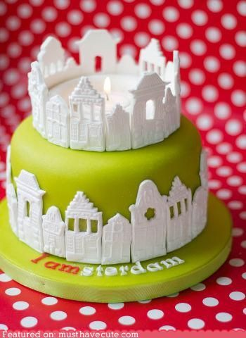 Incredible Adorable Amsterdam Cake Architecture Cake Tulip Cake Classic Personalised Birthday Cards Epsylily Jamesorg