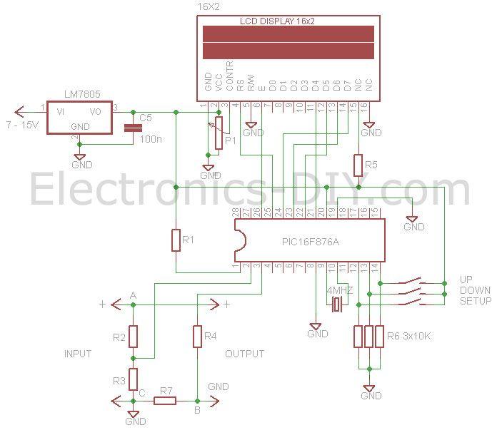 voltmeter ammeter circuit electronic pinterest circuits diy rh pinterest com Volt Meter Chart Volt Meter Tool