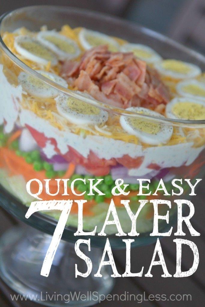Quick & easy 7-layer salad   Recette   Recettes salées ...