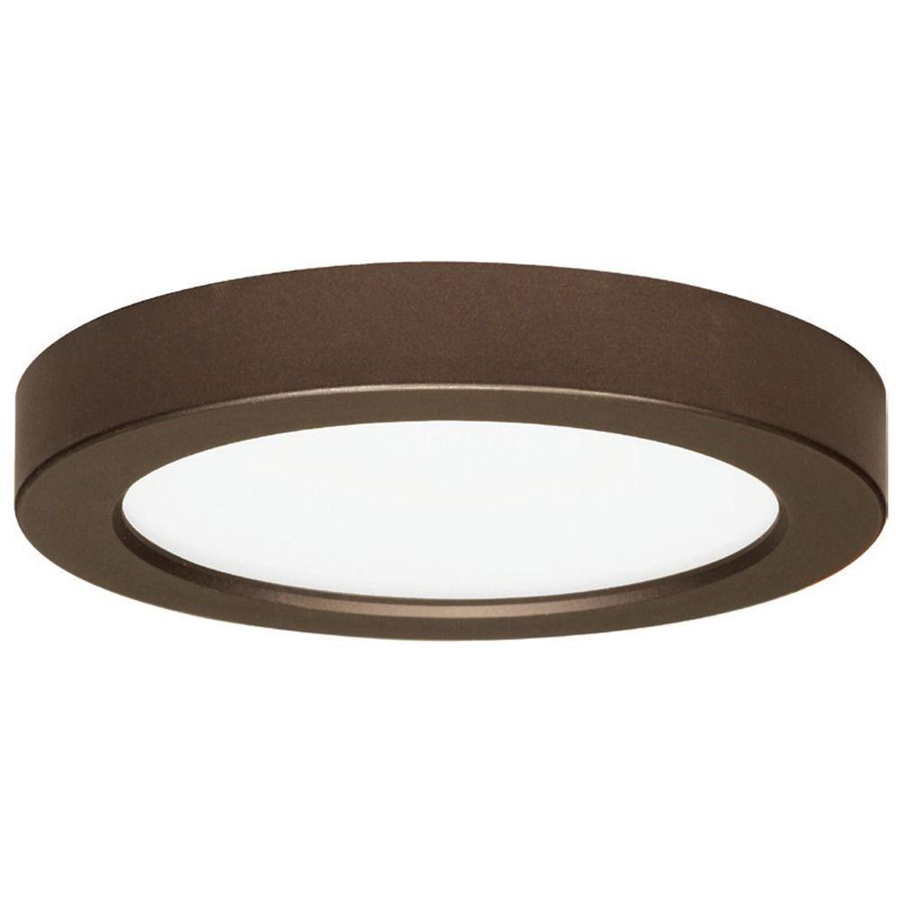7 inch round bronze low profile led flushmount ceiling light 7 inch round bronze low profile led flushmount ceiling light 2700k 8330 aloadofball Gallery
