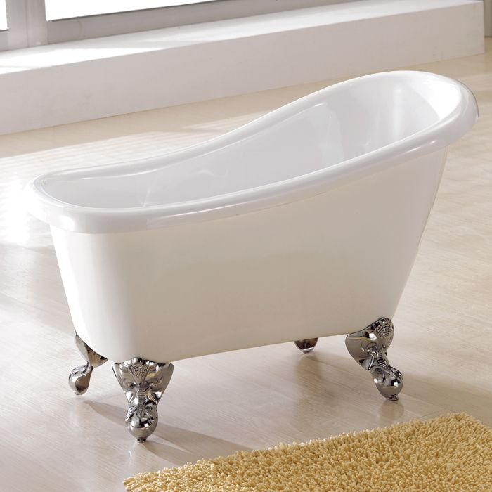 44 Carter Acrylic Mini Clawfoot Slipper Tub With Imperial Feet From Signature Hardware I Want To Put This In A 48 Sp Mini Bathtub Clawfoot Tub Slipper Tubs