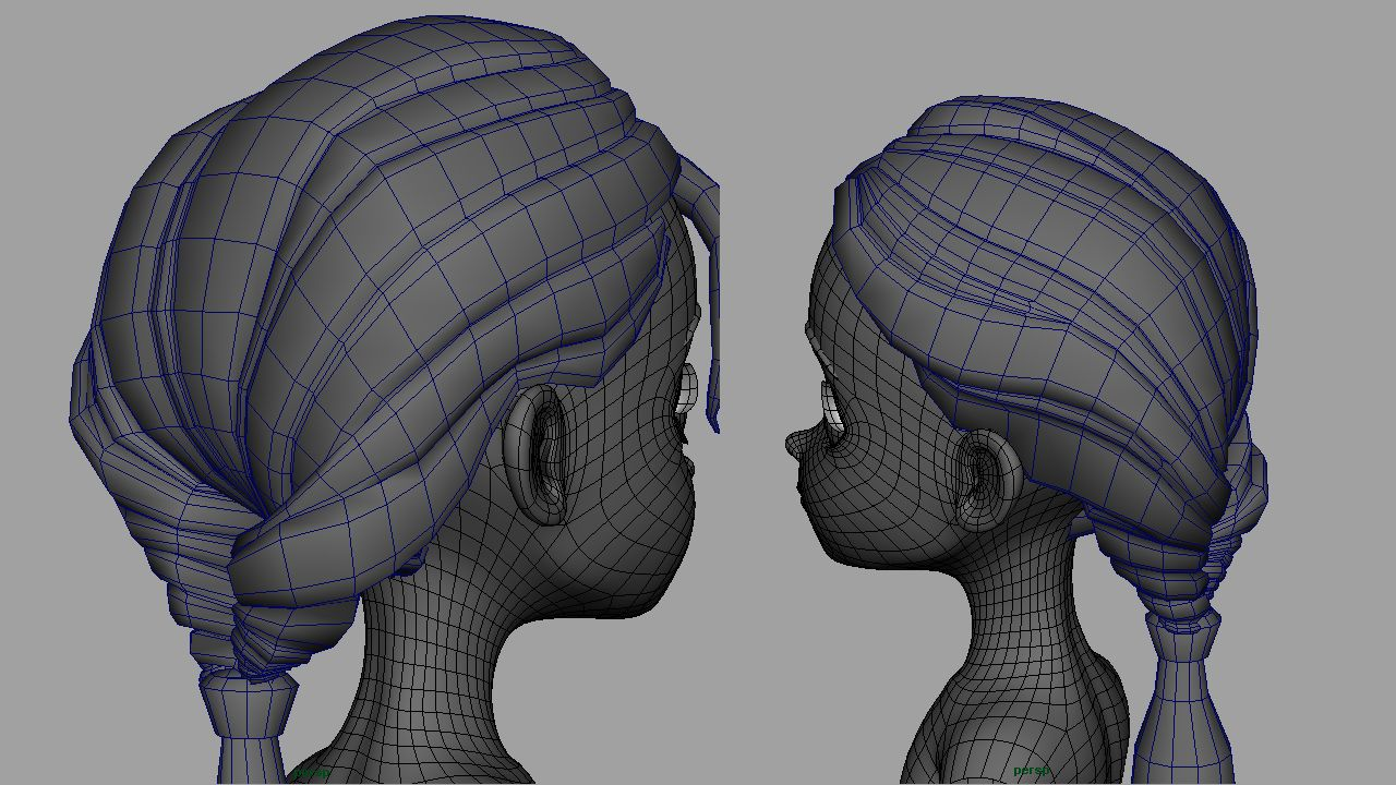 Polygonal Hair 3d Google Search And Google
