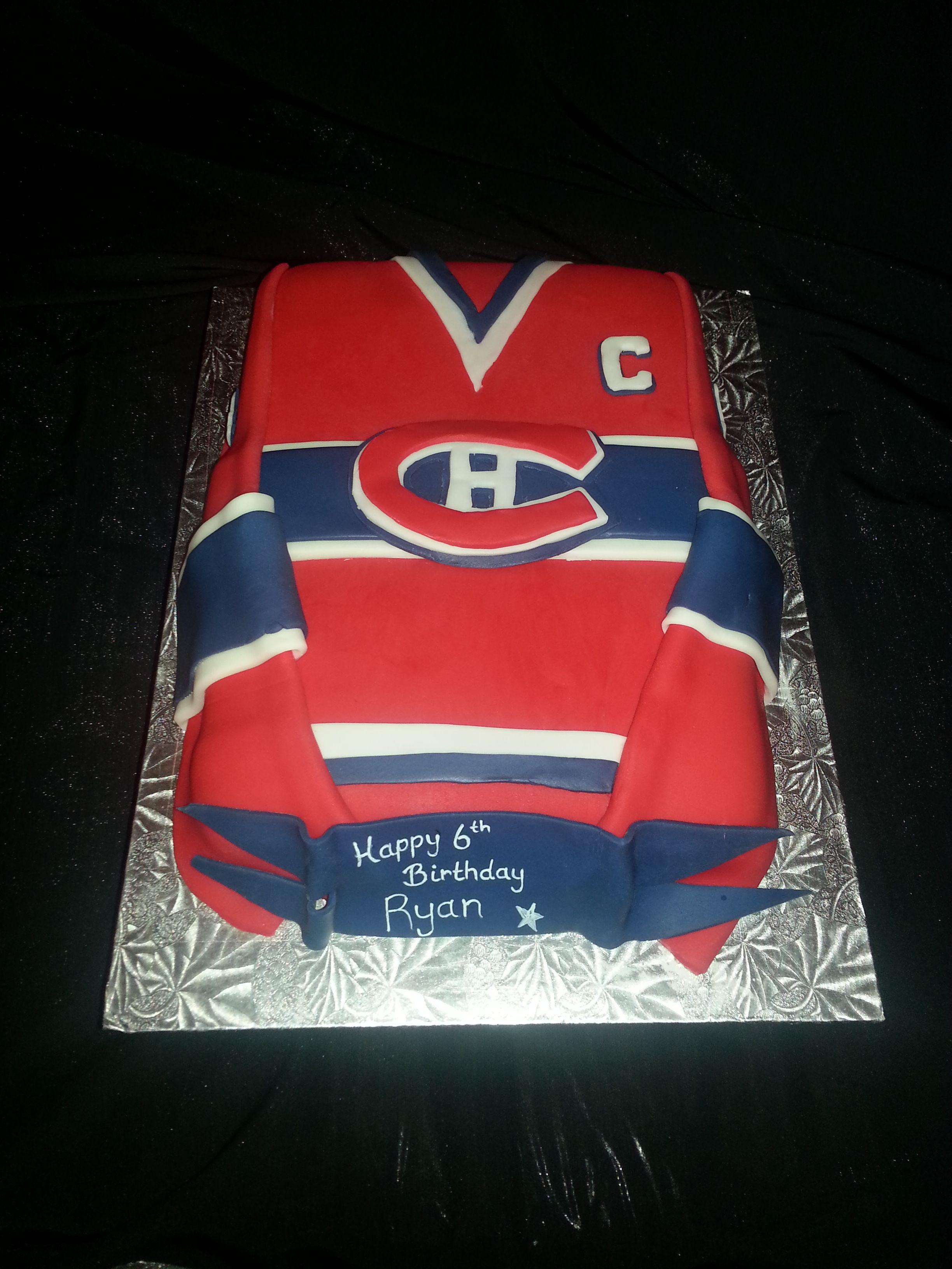 Pin Montreal Canadien Hockey Themed Birthday Cake Mint