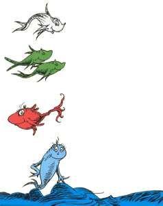 Dr Seuss Characters Dr Seuss Art Dr Seuss Illustration Fish Coloring Page