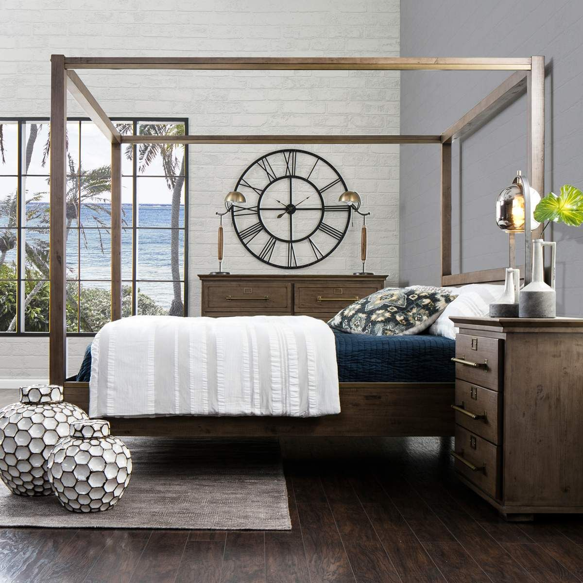 Rustic industrial sophistication makes the Heights canopy