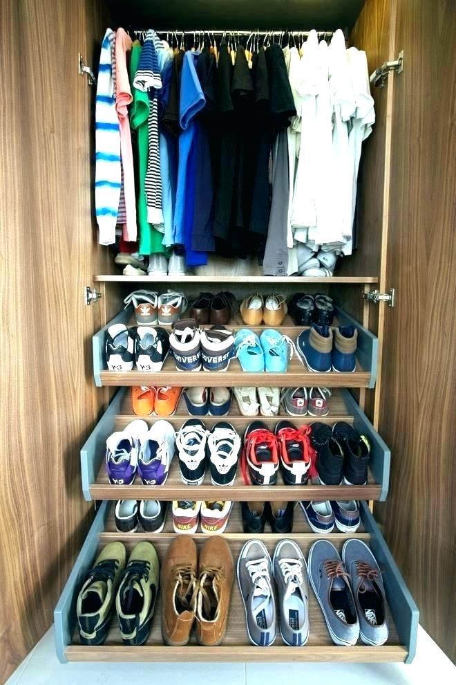 Custom Shoe Shelves Sliding Rack For Closet Pull Out Shelf Cabinet Contemporary With Wardro Shoe Organization Closet Shoe Rack Closet Clothes Organizer Shelves