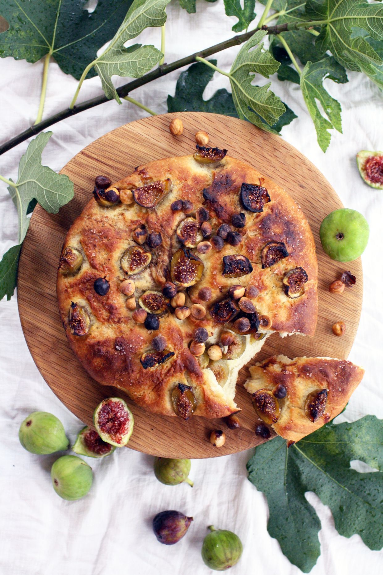 Late Summer Fig and Grape Focaccia | Sweatpea Darling Heart