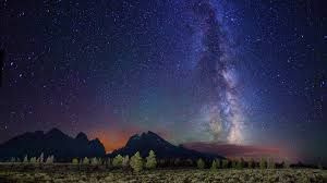 starry night over the lake - Google Search