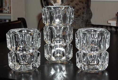 Elements Block Crystal Vase Candle Holders Czech Etsy