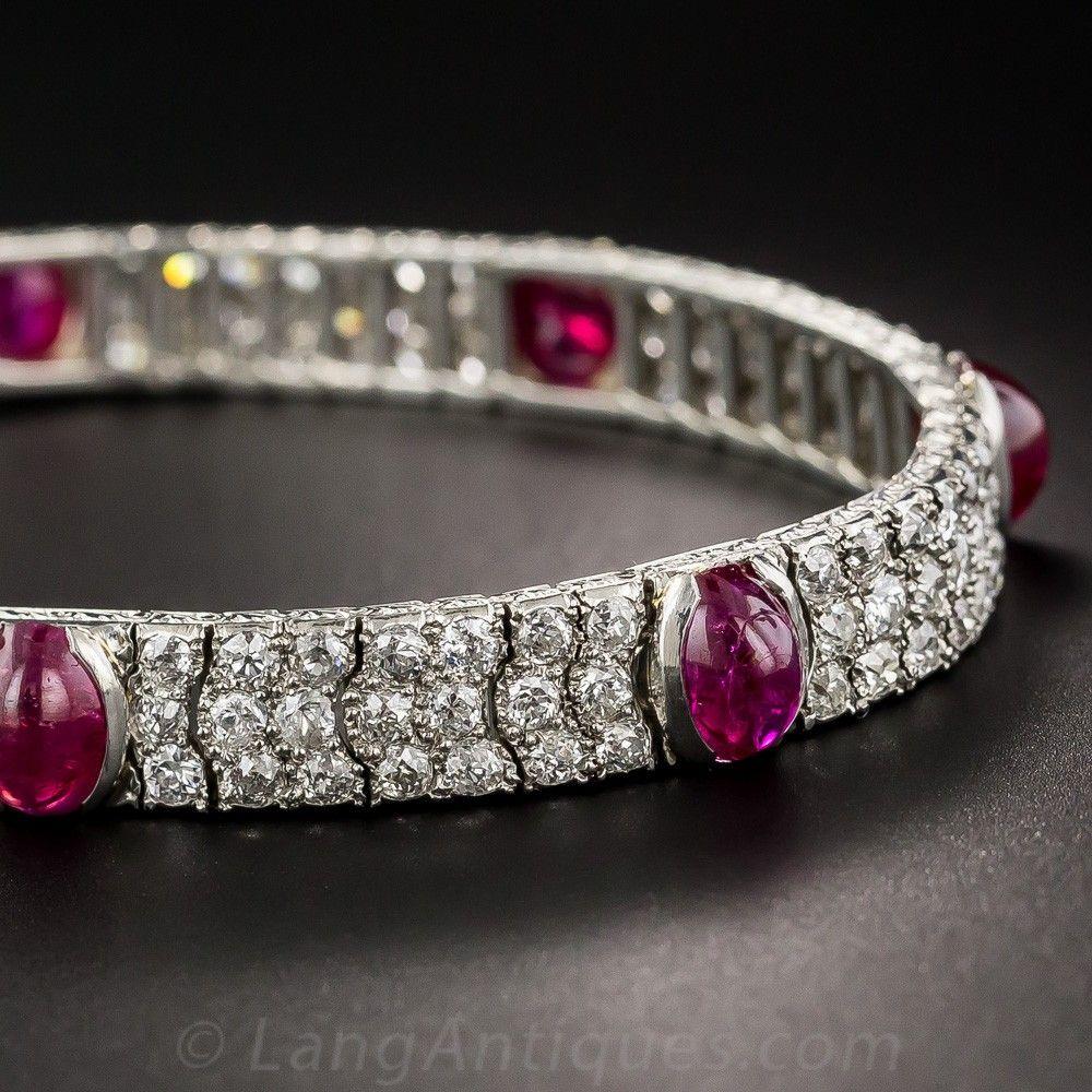 64c1b10254a Art Deco No-Heat Burmese Ruby