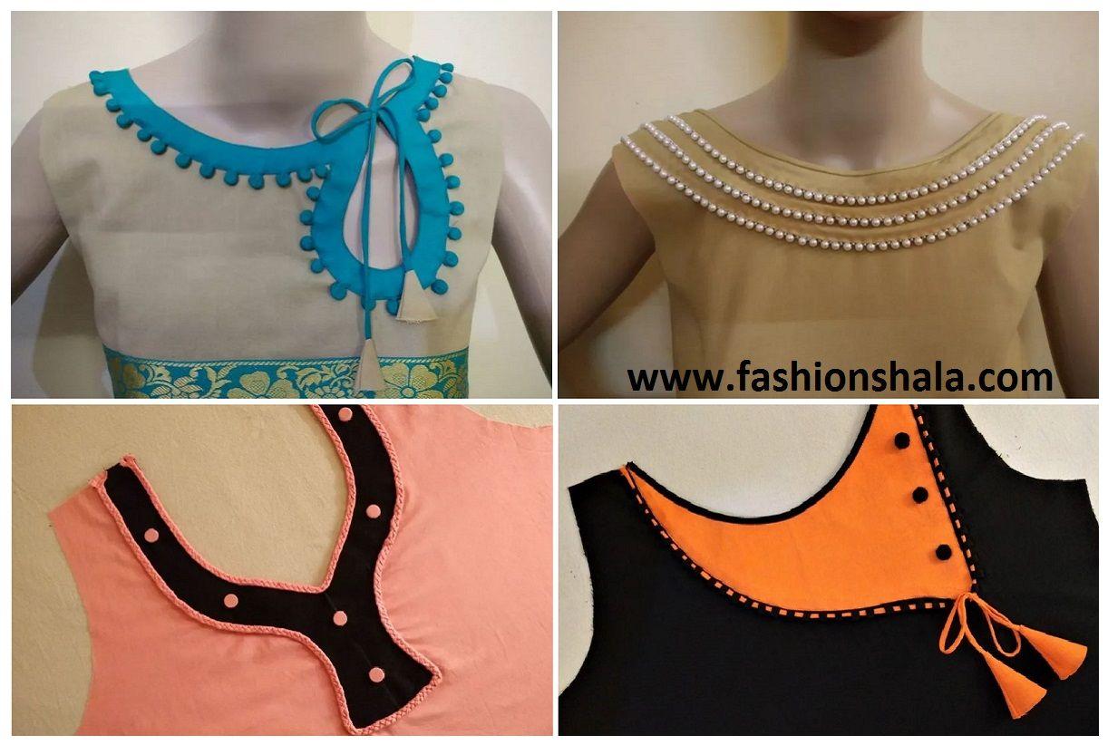 6cd800d85b7ae1 Beautiful Kurta Neck Design Cutting And Stitching – Tutorial ...