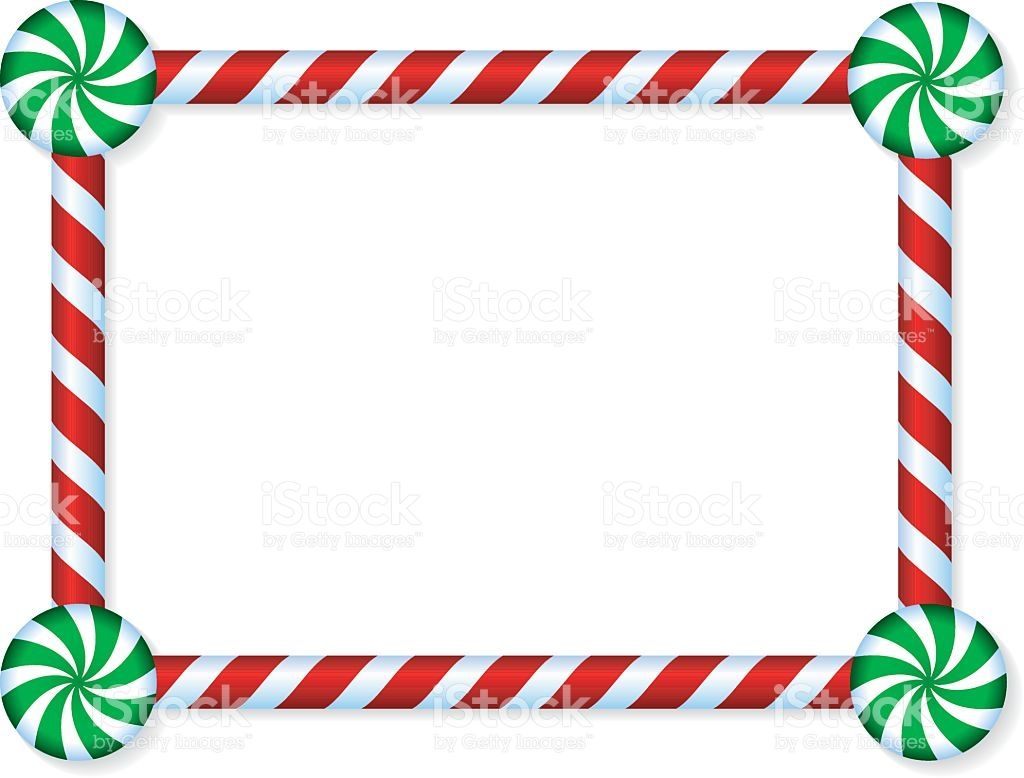 Stock Illustration Candy Cane And Peppermint