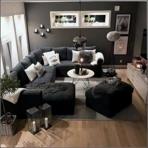 47 Popular Living Room Decor Ideas With Black Sofa In 2020 Living Room Decor Apartment Living Room Decor Cozy Small Living Room Decor