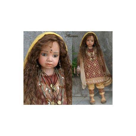 ANGELA SUTTER POUPEE SHARADA - poupée d'artiste unique d'Angela Sutte