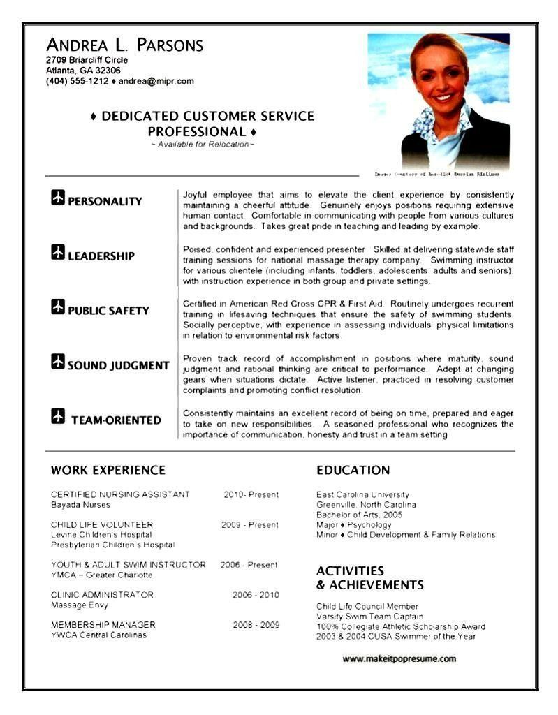 Flight Attendant Resume Sample Lovely Resume Template Cabin Crew