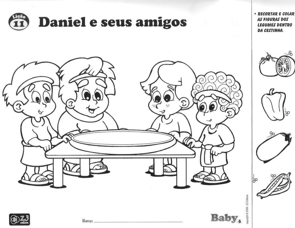 Desenhos Para Colorir De Daniel E Seus Amigos Aprendendo A Biblia