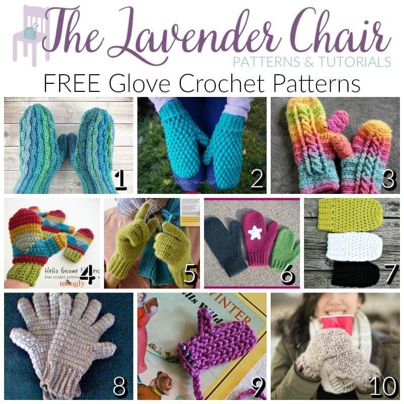 Gorgeous Free Glove Crochet Patterns Glovesmittens Pinterest