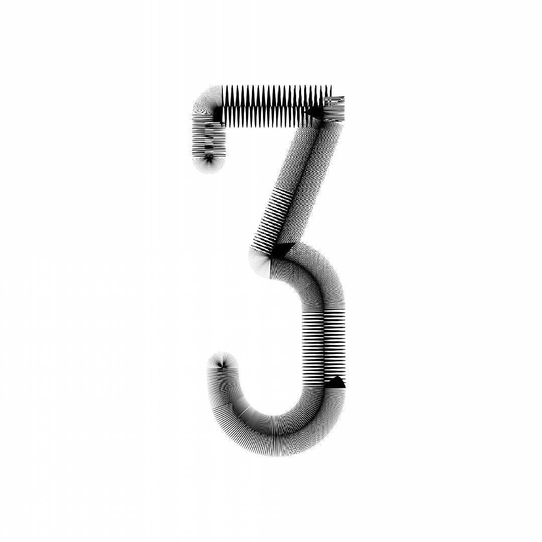 3 #36daysoftype #36days_3 #typography #number #graphicdesign by leydemurphy