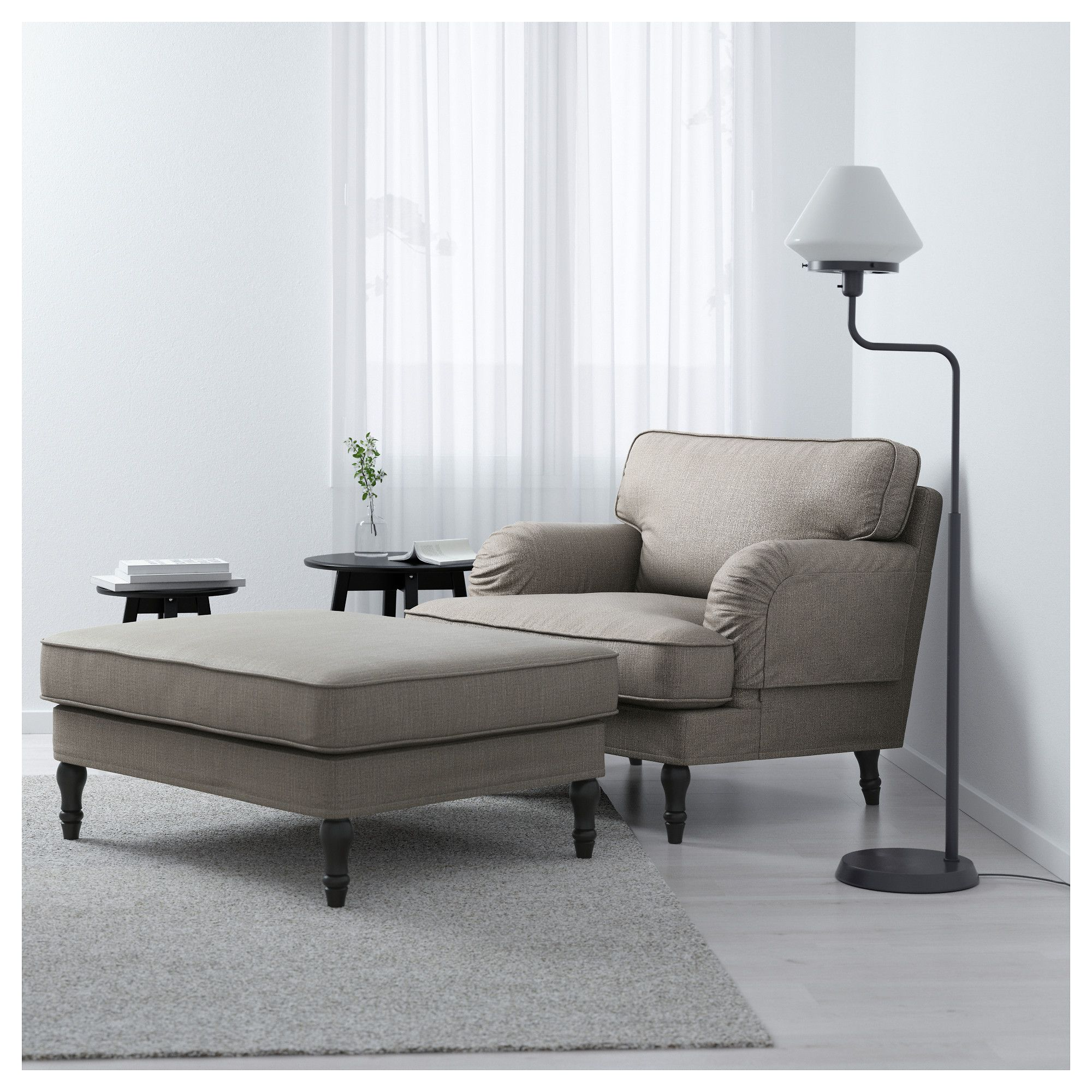 Ikea Stocksund Footstool Works As An Extra Seat Or A