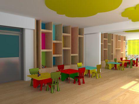 Interior Design Of A Nursery And Preschools Classroom In A