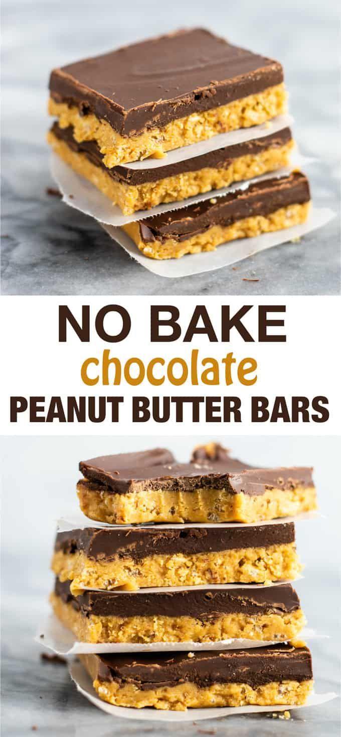 No Bake Chocolate Peanut Butter Bars Vegan Gluten Free A