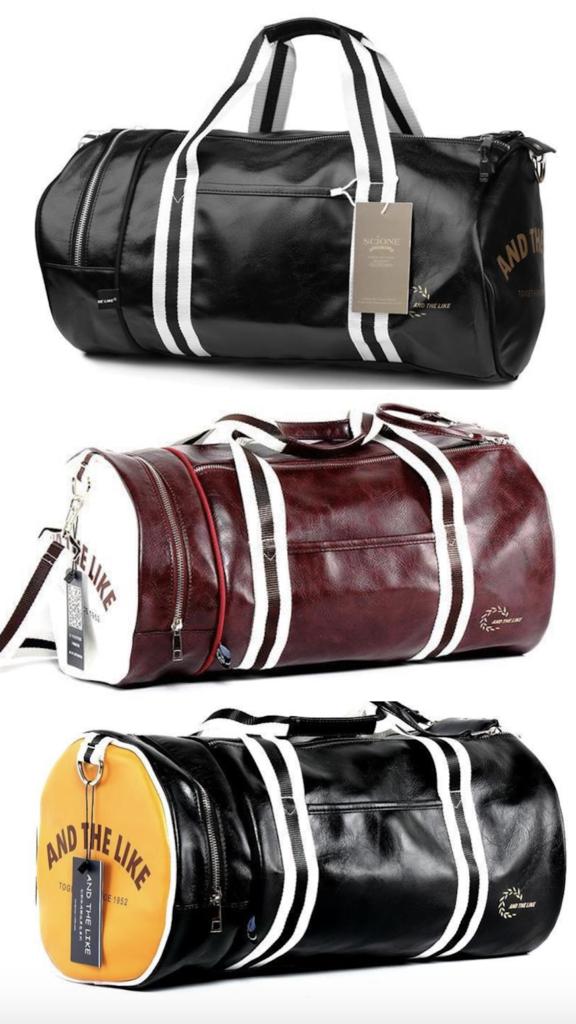 0f3ec11e6b8f9a Vintage Style Gym Bag | Handmade leather wallet | Mens gym bag, Gym ...