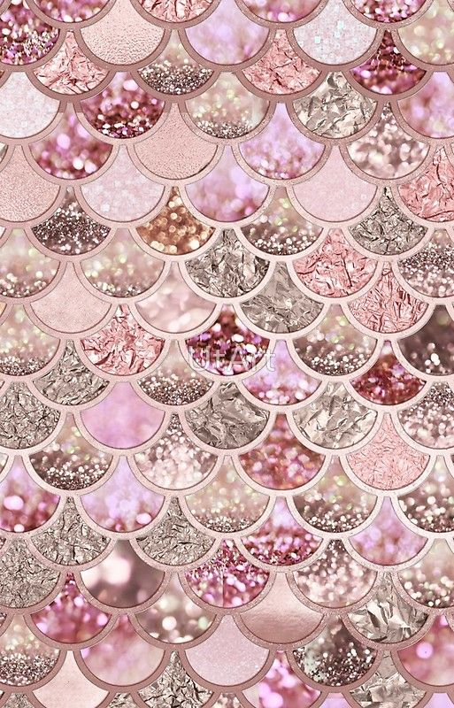 Rosegold Pink Sparkle Faux Glitter Mermaid Scales Redbubble Mermaid Pink Glitter Ipho Gold Wallpaper Background Glitter Wallpaper Iphone Wallpaper Glitter