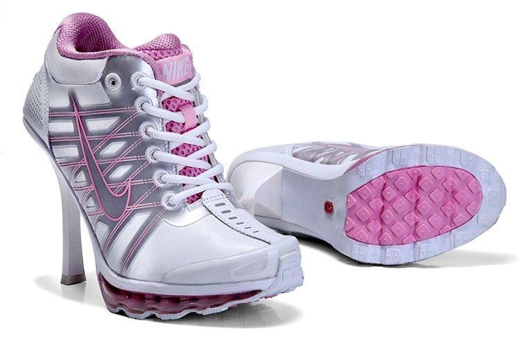 Comfortable Women Nike Air Max 2009 High Heels WhitePink