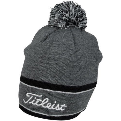 e7bb156cd3 New-Titleist-Golf-Winter-Pom-Pom-Beanie-Hat-TH6WEAWHP-9-Charcoal-Black-White