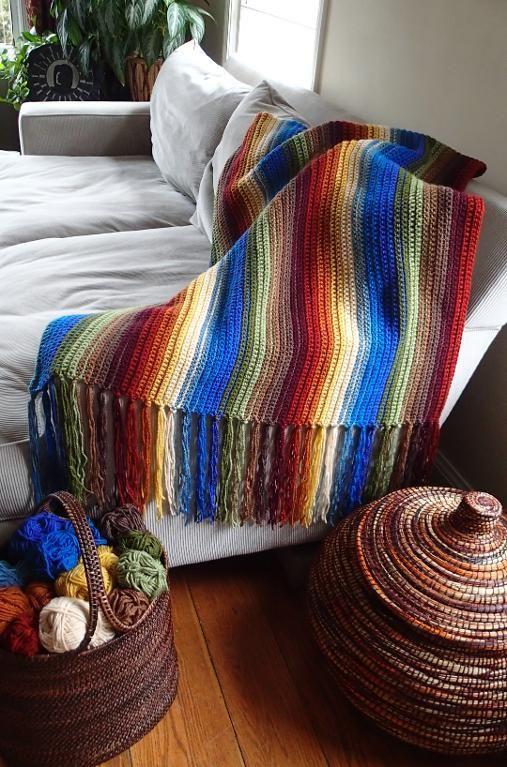 Sierra Madre Blanket Crochet Pattern | Manta, Mantas calentitas y Tejido