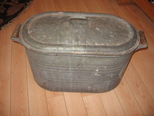 Details About Boiler Wash Tub Old Lid Copper Galvanized