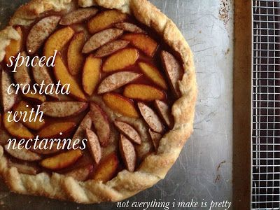 Spiced Crostata with Nectarines - The Breakfast Hub - Nectarines - Pie - Crostata - Easy Breakfast Recipes