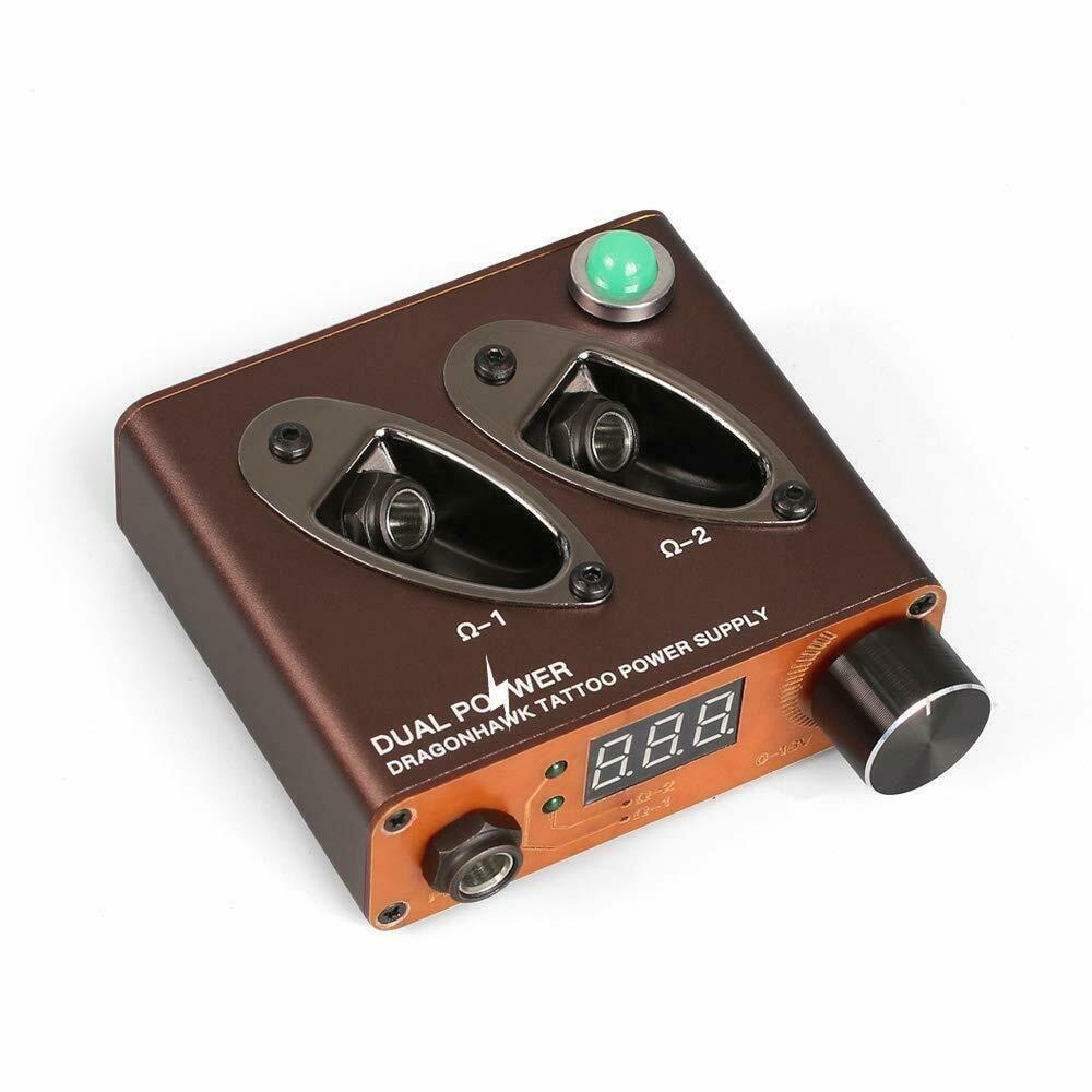 Dragonhawk professional tattoo power supply box dual