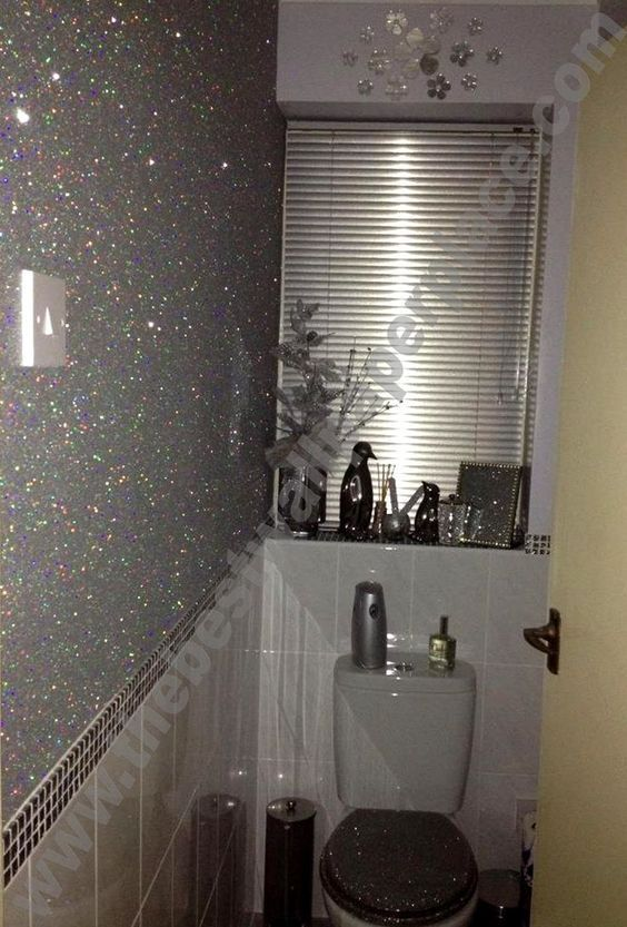 Stardust - Shades of Silver / Black - Glitter Wallpaper - Wallpaper Brands - The Best Wallpaper Place