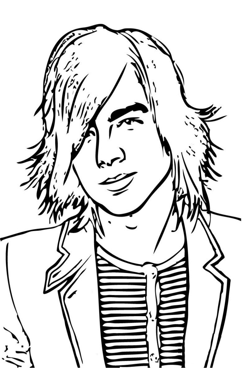 Jonas Brothers Camp Rock Coloring Pages Demi Lovato Free