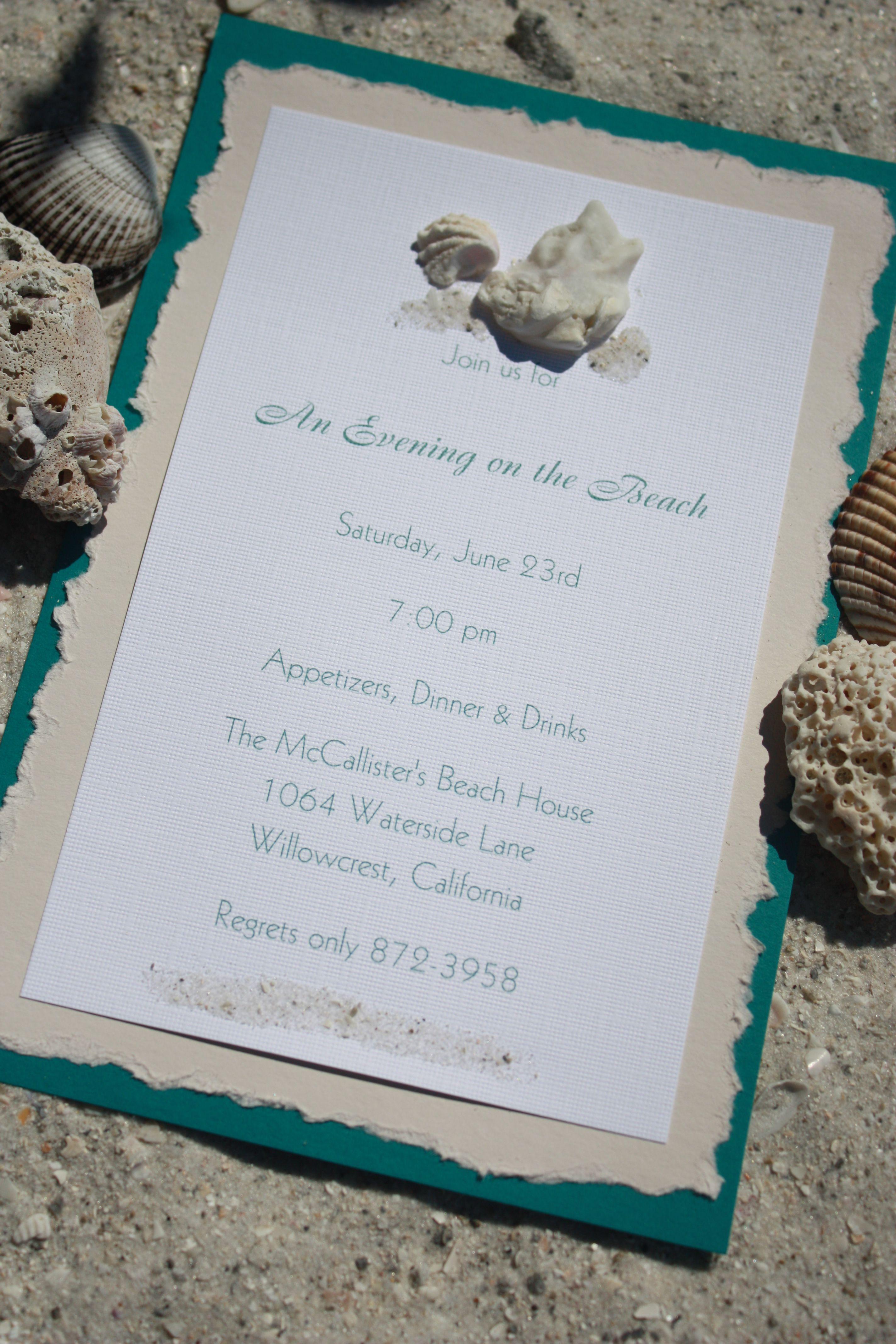 Beach themed wedding invitations do it yourself wedding beach themed wedding invitations do it yourself monicamarmolfo Image collections