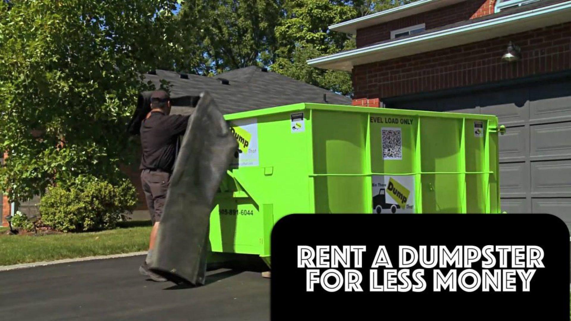 How to rent a dumpster twins rent a dumpster rent