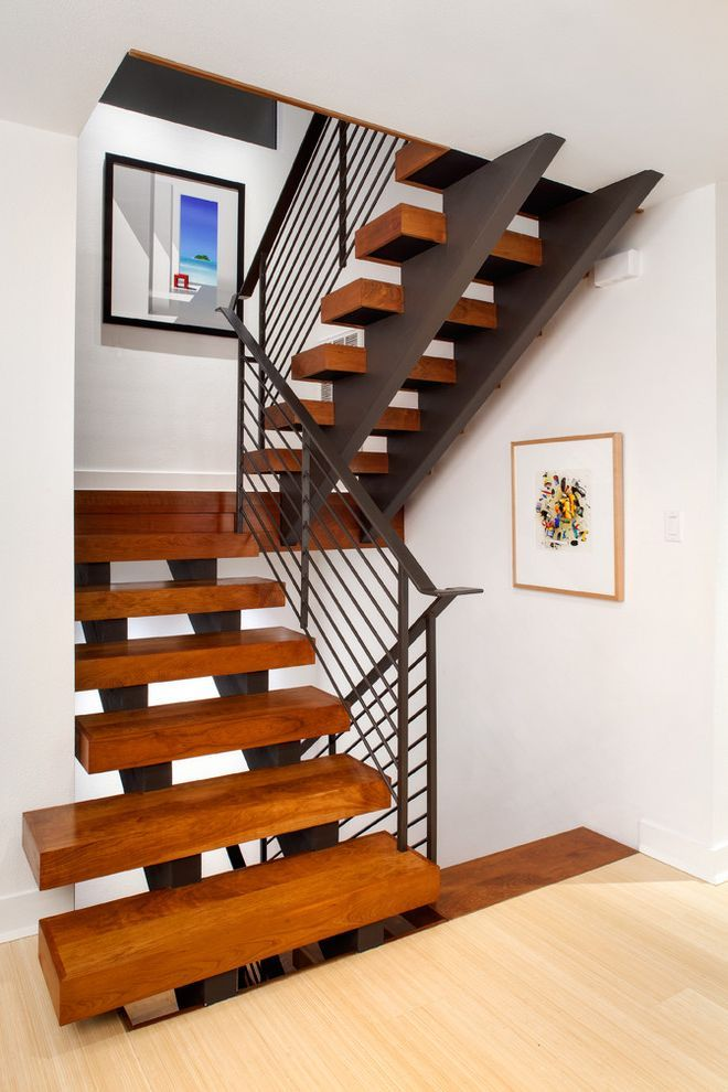 Best Thick Stair Treads Contemporary Staircase And Art Blocky 400 x 300