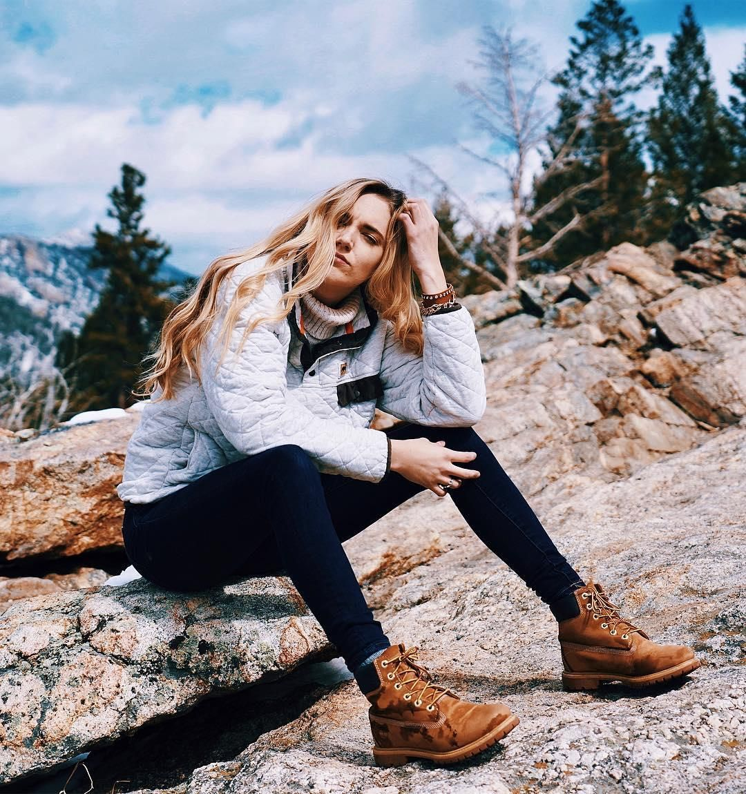 boots outfit, Hiking boots women