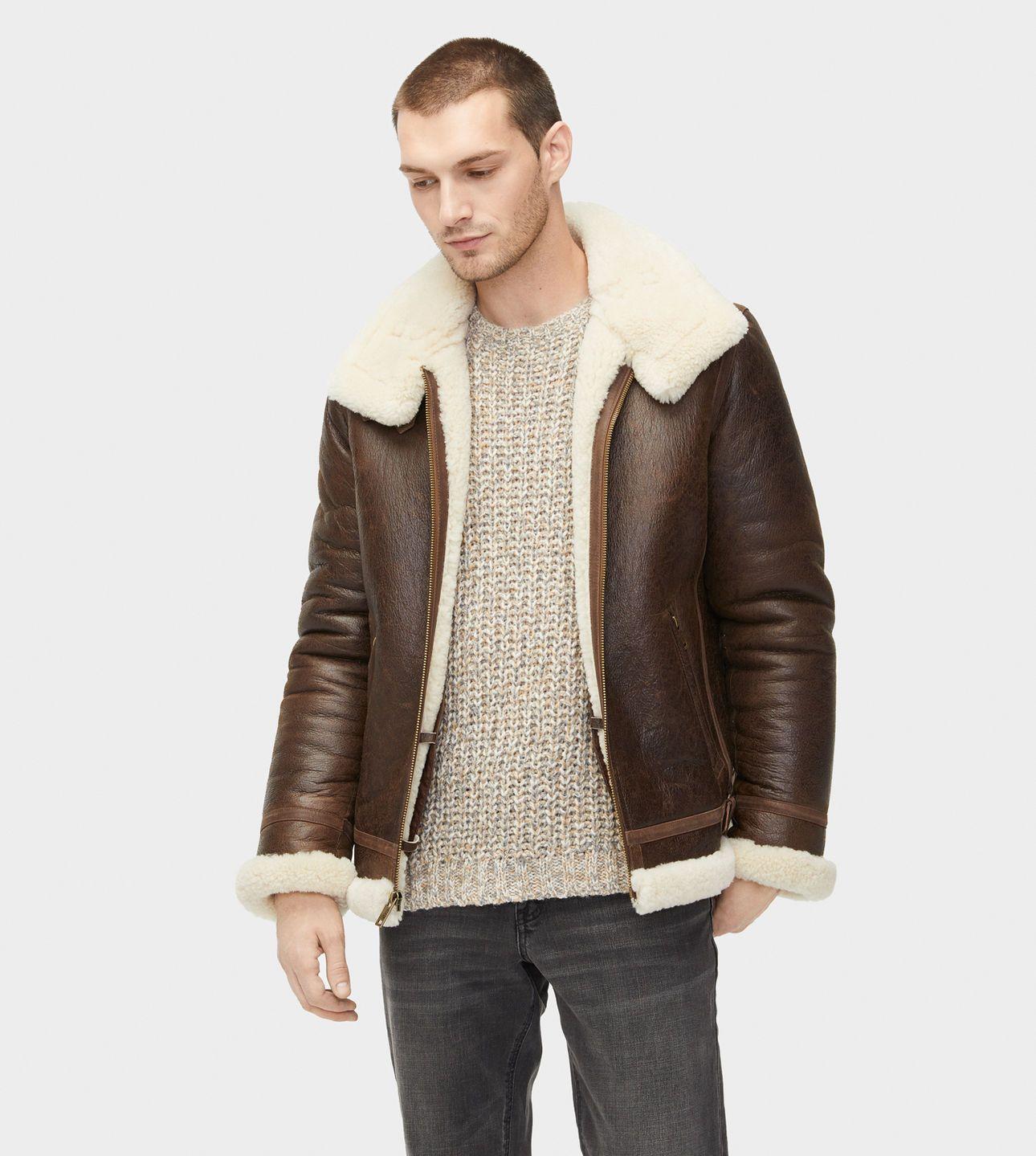 buy online 7b831 c5b93 UGG® Auden Shearling Aviator Jacket für Herren   UGG® DE ...