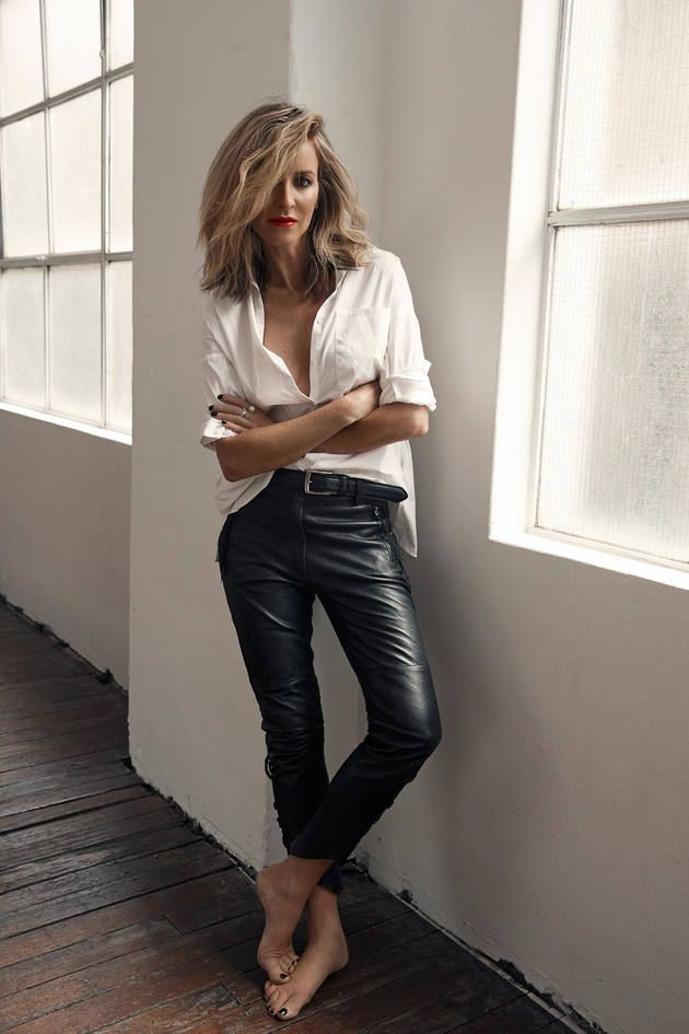 How to Style Black Leather Pants