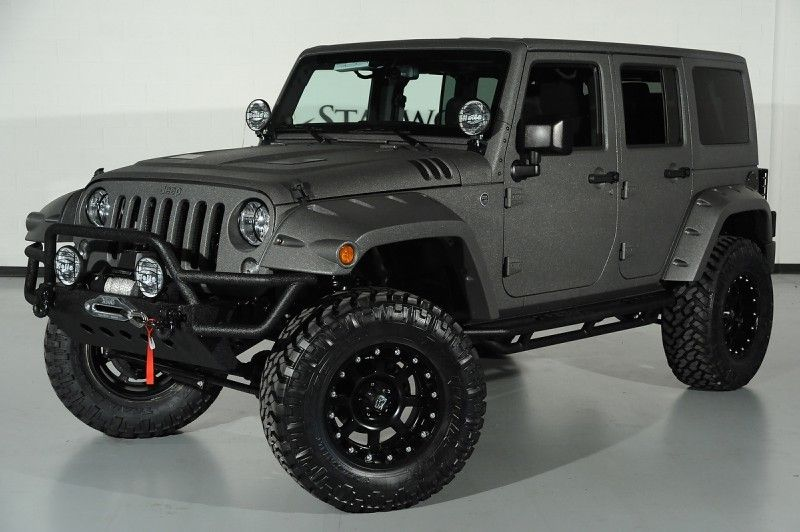 2014 Jeep Wrangler Unlimited with XD Wheels: Front-Left View ...