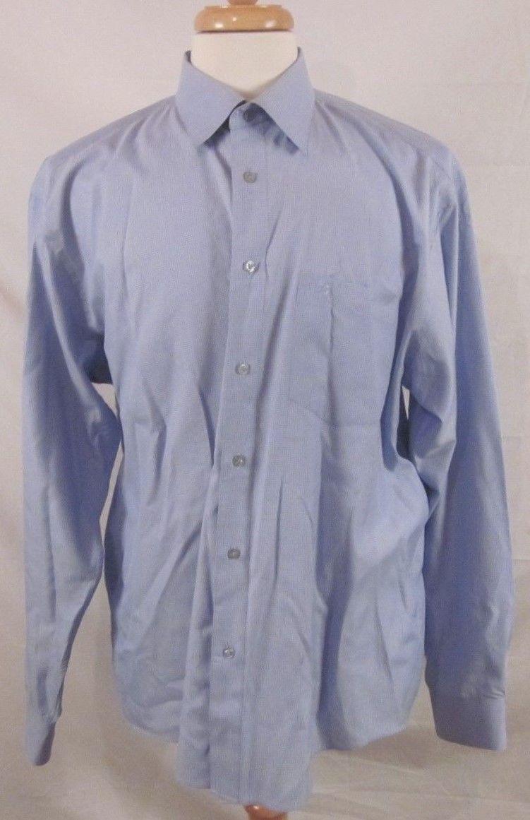 ca4f4e02 69.99 | Versace Classic V2 Men's Blue Shirt Size 18 XL Button Down ...