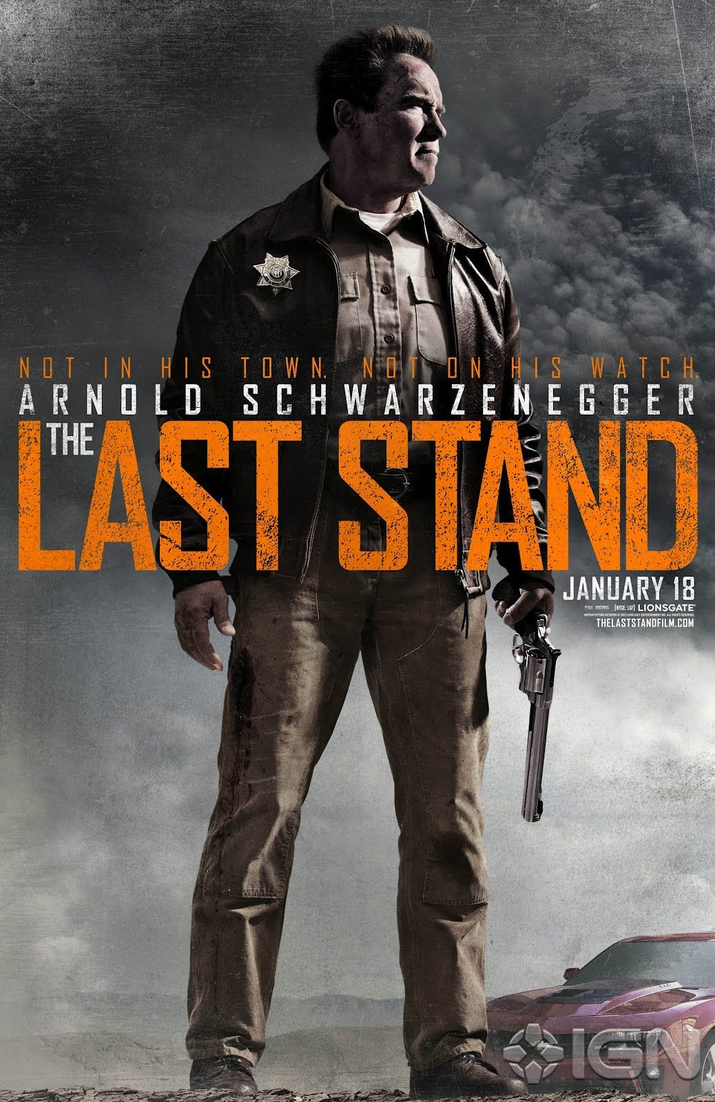 The Last Stand 2013 Movie Trailer Poster Arnold Schwarzenegger