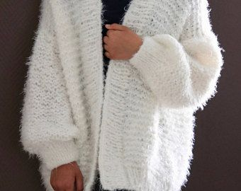 Fluffy Oversized Chunky Knit Sweater, Chunky Loose Fit, Loose Knit ...
