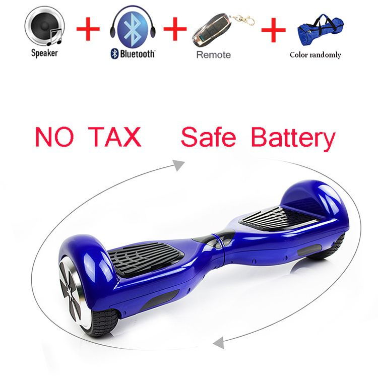 6.5 inch Speedway Self Balance Electric Standing Hoverboard Scooter Remote Key LED Light Two Wheel Smart Skateboard