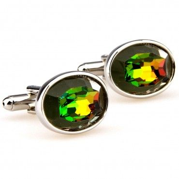You'll peacock with the best of them with the Multi Jeweled Stainless. These colorful gemstone cufflinks are a fun addition to your French cuff look. | Mens Cufflinks - Cufflinks for Men #howmendress #menswear #mensfashion