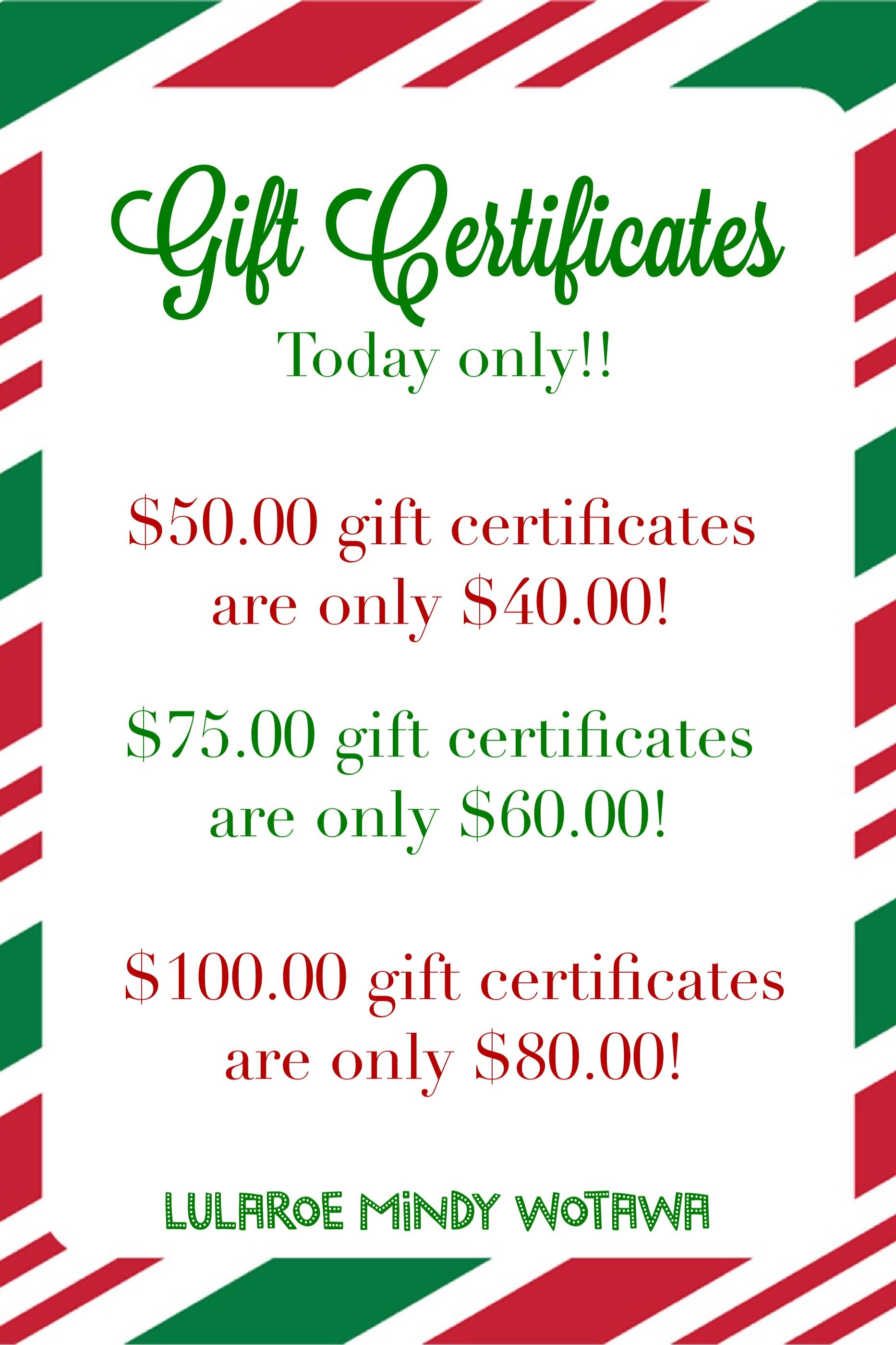 Small business saturday only gift certificate specials lularoe small business saturday only gift certificate specials colourmoves Choice Image