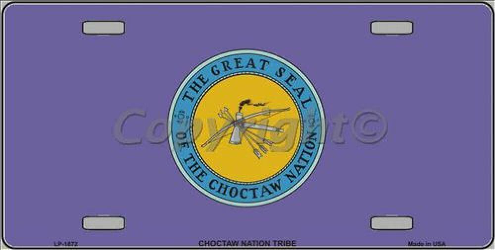 Great Seal Of The Choctaw Nation Flag Tag Sign License Plate Choctaw Nation Flag Tag Choctaw